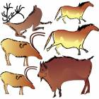 Clinton Wall Sticker - Cave Paintings