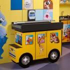 Clinton Model 7822 Fun Series Pediatric Scale Table - Zoo Bus with Jungle Friends