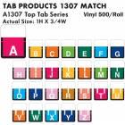 "Tab Products 1307 Match Alpha Roll Labels - 1""H x 3/4""W"