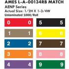 """AMES L-A-00134RB Match AENP Series Numeric Color Code Roll Labels - 1/2""""H x 1 3/4""""W"""