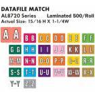 "DataFile Match AL8720 Series Alpha Roll Labels - 15/16""H x 1 1/4""W"