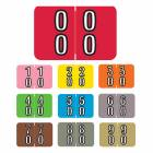 "Barkley FDBKM Match BADM Series Double Digit Numeric Color Code Roll Labels - 1""H x 1 1/2""W"