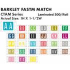 "Barkley FASTM Match CTAM Series Alpha Roll Labels - 1""H x 1 1/2""W"