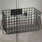 "Heavy Duty Black Epoxy Coated Finish Wire Basket - 14"" W x 8"" H x 8.5"" D"