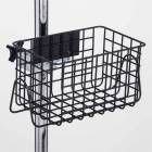 "Heavy Duty Black Epoxy Coated Finish Wire Basket - 12"" W x 6"" H x 6.5"" D"