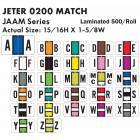 "Jeter 0200 Match JAAM Series Alpha Roll Labels - 15/16""H x 1 5/8""W"