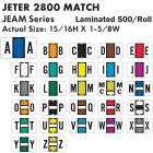 "Jeter 2800 Match JEAM Series Alpha Roll Labels - 15/16""H x 1 5/8""W"