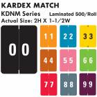 "Kardex Match KDNM Series Numeric Roll Color Code Labels - 2""H x 1 1/2""W"