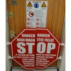 MRI Door Frame STOP Sign