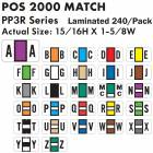 "POS 2000 Match PP3R Series Alpha Sheet Labels - 15/16""H x 1 5/8""W"