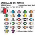 """Safeguard 514 Match SGAM Series Alpha Roll Labels - 15/16""""H x 1 5/8""""W"""