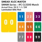 """Smead XLCC Match SMNM Series Numeric Roll Color Code Labels - 2""""H x 1 1/2""""W"""