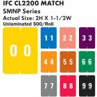 "IFC #CL2200 Match SMNP Series Numeric Roll Color Code Labels - 2""H x 1 1/2""W"
