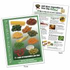 Food Group TearPad - Vegetable Group - 8-1/2 x 11 - 50 Sheets