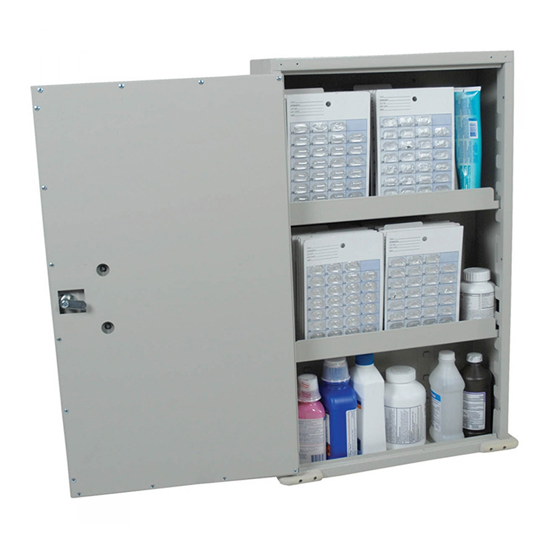 harloff wall mounted medication cabinet single door single key lock